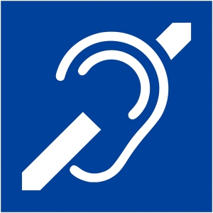 ADA Hearing Loss Symbol - no hearing loop