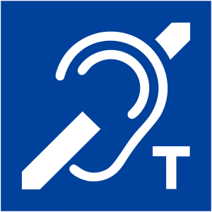 ADA Hearing Loss Symbol - with hearing loop